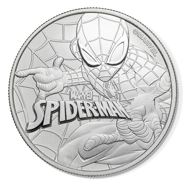 Marvel: 2017 1oz Pure Silver SPIDER-MAN Bullion Coin