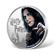2020 1oz Silver Severus Snape Coin obverse and reeded edge detail