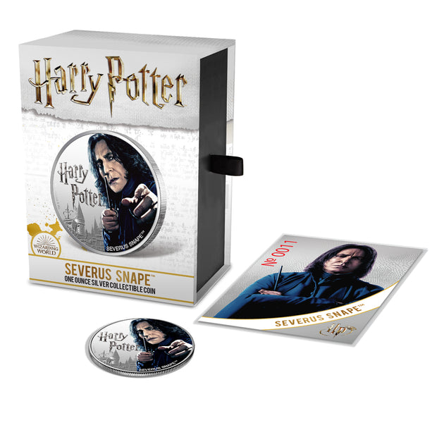 2020 1oz Silver Severus Snape Coin packaged set