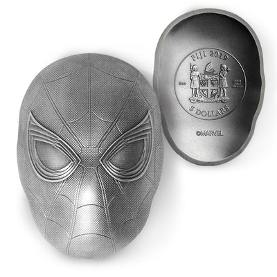 2019 Marvel SPIDER-MAN Icon 2oz Pure Silver Coin