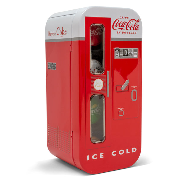 2020 Silver Coca-Cola Bottle Cap Coin Vending Machine Set