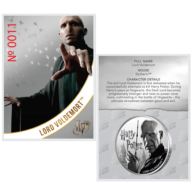 2020 1oz Silver Lord Voldemort Coin certificate of authenticity
