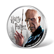 2020 1oz Silver Lord Voldemort Coin obverse and reeded edge detail