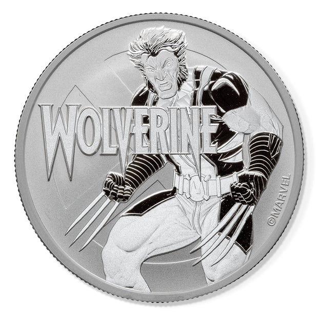 Marvel: 2021 1oz Pure Silver WOLVERINE Bullion Coin