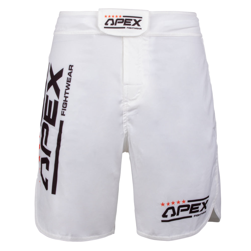 Apex X White MMA Shorts