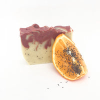 Orange & Poppy Seed (Red Reef Clay) Soap Bar