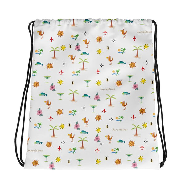 ''Traveltime'' drawstring bag Chill Screen Default Title