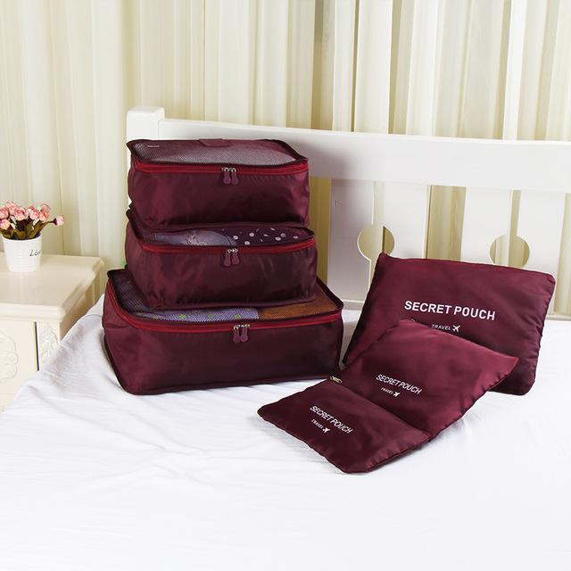 Packing cubes Chill Screen Wine red