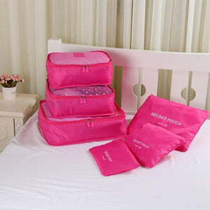 Packing cubes Chill Screen Rose red
