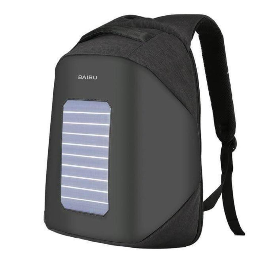 ''Helios'' Solarpower backpack Chill Screen Black