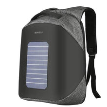 Load image into Gallery viewer, ''Helios'' Solarpower backpack Chill Screen Gray