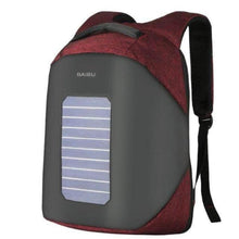 Load image into Gallery viewer, ''Helios'' Solarpower backpack Chill Screen Red