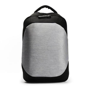 """The Allrounder"" Backpack (Powerbank compatible) Chill Screen silver gray"