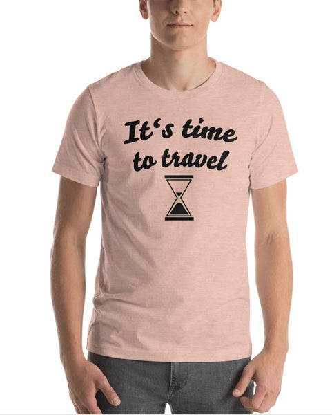 ''It's time to travel'' T-Shirt Chill Screen Heather Prism Peach XS
