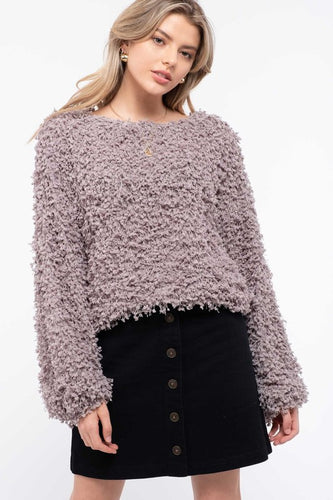 Blu Pepper Shaggy Popcorn Knit Top