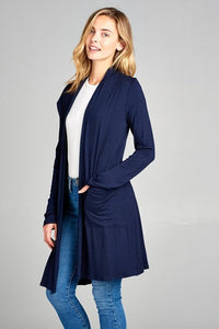 Long Sleeve Cardi - Navy