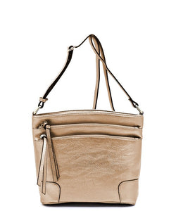 All-In-One Tassel Detailed Crossbody Bag