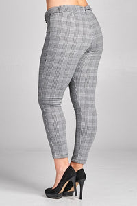 Belted Plaid Trousers