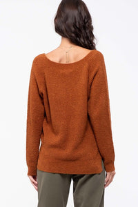 Blu Pepper Long Sleeve V-Neck Knit Sweater