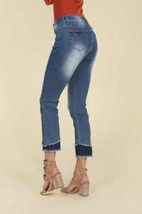 Bba Mid Rise Ripped Washed Stretch Skinny Jeans