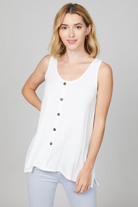 Modal Button Down Tank - Ivory