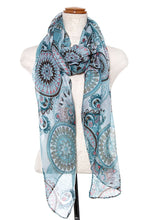 Load image into Gallery viewer, MANDALA MIX PRINT OBLONG SCARF