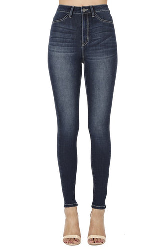 Kancan High Rise Skinny Dark Denim Jeans