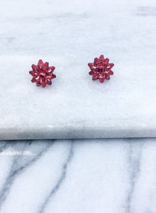 Christmas Bow Post Earrings