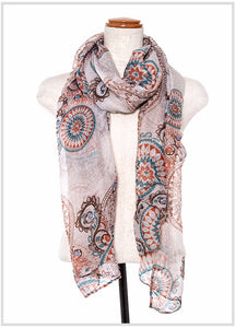 MANDALA MIX PRINT OBLONG SCARF