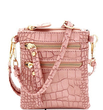 Load image into Gallery viewer, Crocodile Print Small Wristlet & Crossbody