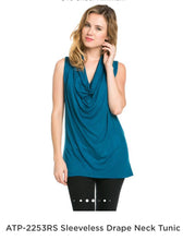 Load image into Gallery viewer, Azules Sleeveless Drape Neck Top