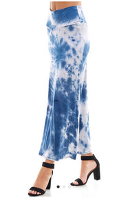 Azules Tie Dyed Maxi Skirt