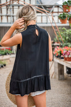 Load image into Gallery viewer, Lace Eleganza Sleeveless Tank - Black