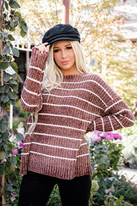 Getting Cozy Chenille Sweater- Taupe