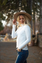 Load image into Gallery viewer, Enjoy The Journey Mock Neck Top- Ivory