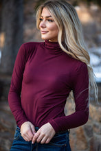 Load image into Gallery viewer, Enjoy The Journey Mock Neck Top - Burgundy