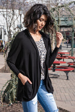 Load image into Gallery viewer, Turn A Look Cocoon Cardigan - Black