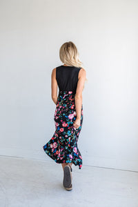 Watch Me Bloom Contrast Maxi Dress