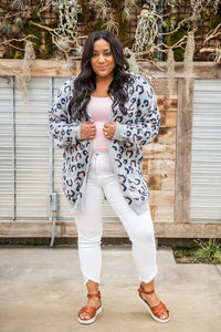 On the Prowl Leopard Cardigan Grey
