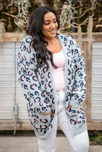 Load image into Gallery viewer, On the Prowl Leopard Cardigan Grey