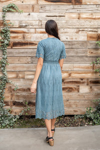 Tea For Two Lace Midi Dress