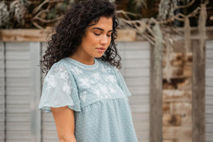Darling Details Embroidered Top