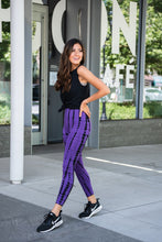 Load image into Gallery viewer, Tie Dye Impression Active Leggings- Purple