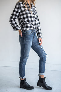 Tomboy High Rise Distressed Skinnies