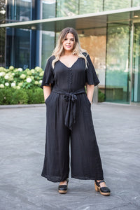 Something Wonderful Tie Waist Jumpsuit