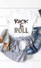Load image into Gallery viewer, Leopard Print Rock and Roll Graphic Tee