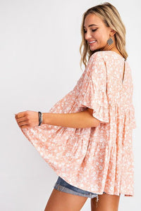 Just You Wait Tiered Floral Top