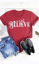 Load image into Gallery viewer, Believe Sleigh Graphic Tee