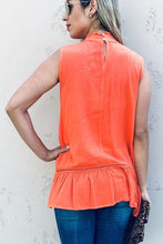 Load image into Gallery viewer, Lace Eleganza Sleeveless Tank- Coral