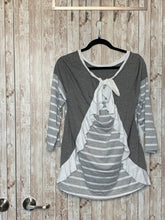 Load image into Gallery viewer, Umgee Grey and White Striped Top